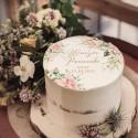 OPŁATEK na tort Wieczór Panieński Pudrowe Kwiaty Z IMIENIEM Ø20cm