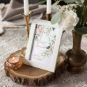 TABLICZKA na stolik na panieński Z IMIENIEM Pudrowe Kwiaty (+ramka)
