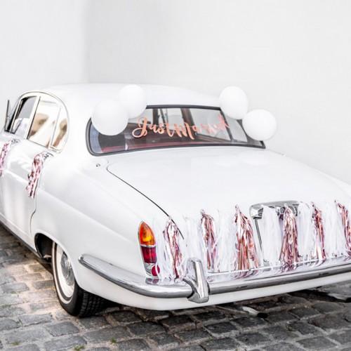 DEKORACJE na samochód ślubny ZESTAW JUST MARRIED