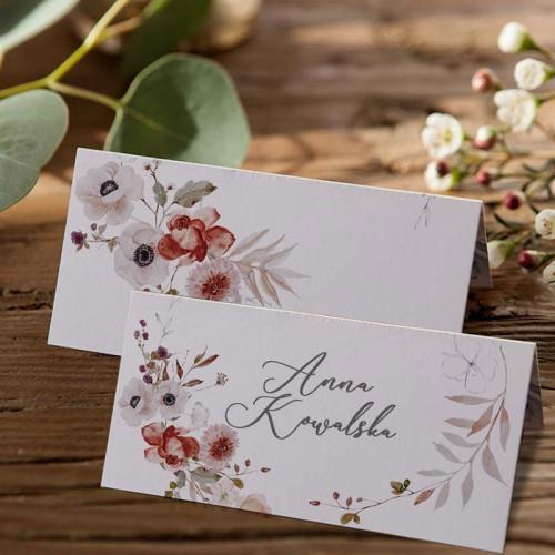 WINIETKA ślubna z nadrukiem Jesienne Kwiaty