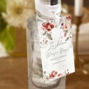 ZAWIESZKI na wódkę Z IMIONAMI Jesienne Kwiaty 10szt