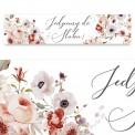 TABLICE rejestracyjne ślub Z NADRUKIEM Jesienne Kwiaty