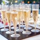KIELISZKI do szampana bezbarwne plastikowe 10szt