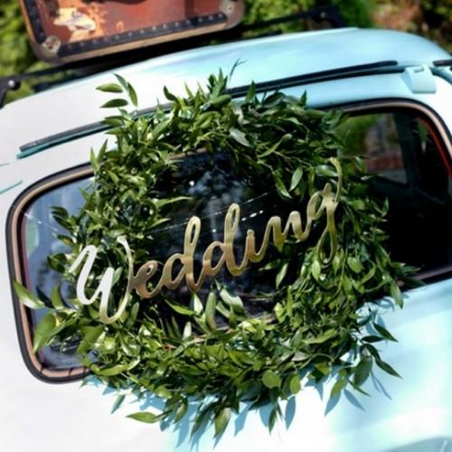 NAPIS dekoracyjny Wedding 45cm ZŁOTY!
