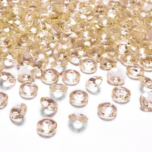 DIAMENCIKI do dekoracji 100szt ZŁOTE