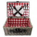KOSZ piknikowy Z WYPOSAŻENIEM dla 4 osób prezent dla Rodziców