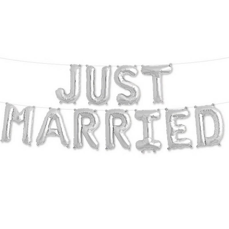 BALONY foliowe Just Married MEGA DUŻE