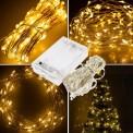 DRUCIK świetlny 50 microLED'ow na baterie - 5m