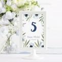 TABLICZKA na stolik z personalizacją Granatowe Anemony