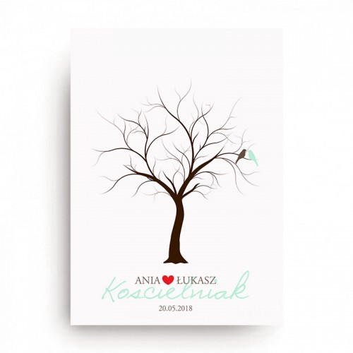KSIĘGA GOŚCI personal. Tree of Love 50x70cm