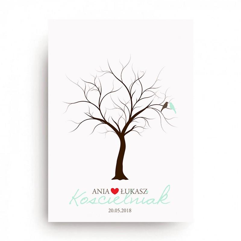 KSIĘGA GOŚCI personal. Drzewo Miłości 50x70cm