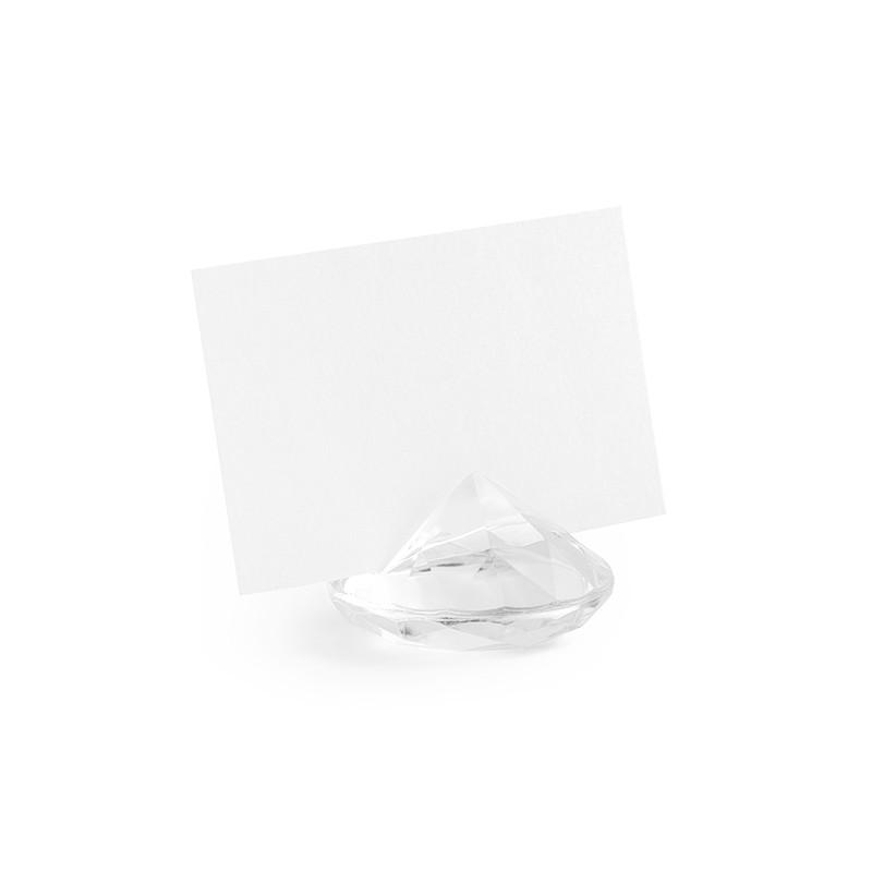 WIZYTOWNIKI diamentowe 10szt BEZBARWNE
