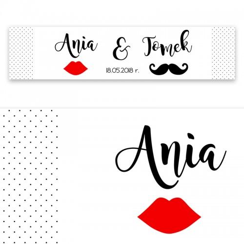 TABLICA rejestracyjna personalizowana Usta Wąsy