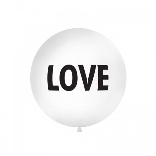 BALON pastelowy olbrzym 1m LOVE