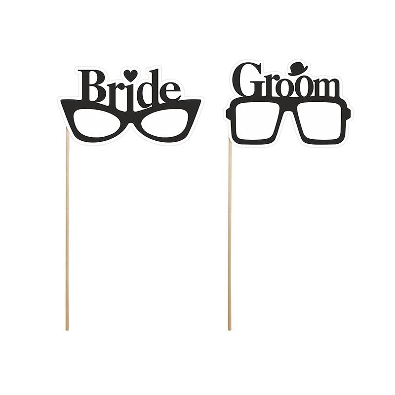 OKULARY do sesji foto Bride & Groom