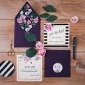 SAVE THE DATE Flowers&Stripes  (+koperta z wnętrzem+naklejka)