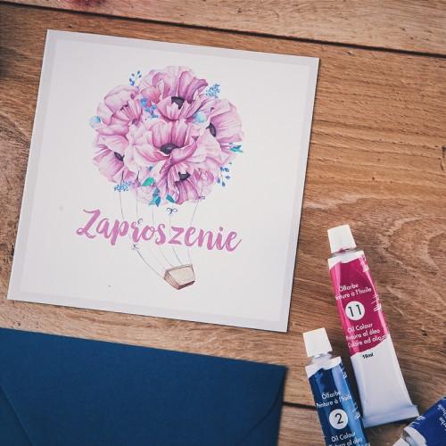 ZAPROSZENIE ślubne Flower Bouquet (+koperta z wnętrzem+naklejka)