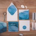 ZAPROSZENIE ślubne Akwarelowy Ocean (+koperta z wnętrzem+naklejka)