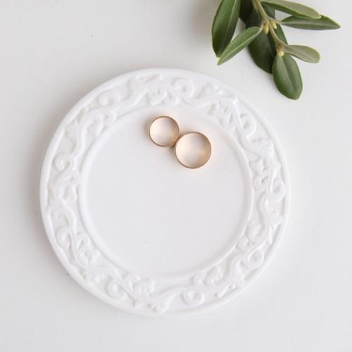 TACKA na obrączki ceramiczna z ornamentami