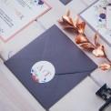 SAVE THE DATE Kolekcja Miedziana (+koperta z wnętrzem+naklejka)