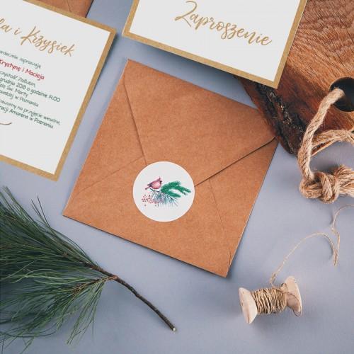 SAVE THE DATE Winter Bird (+koperta z wnętrzem+naklejka)