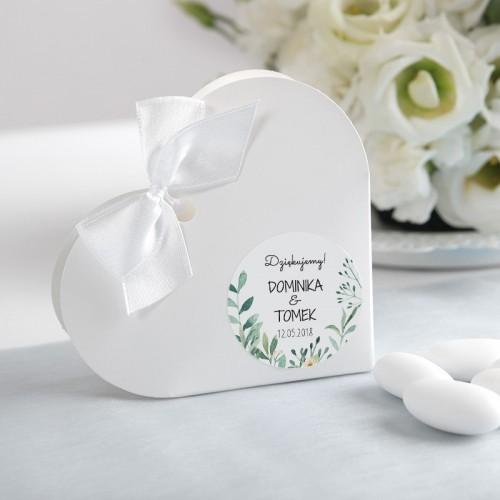 PUDEŁECZKA SERCA Natural Green 10szt (+etykiety+białe wstążki)