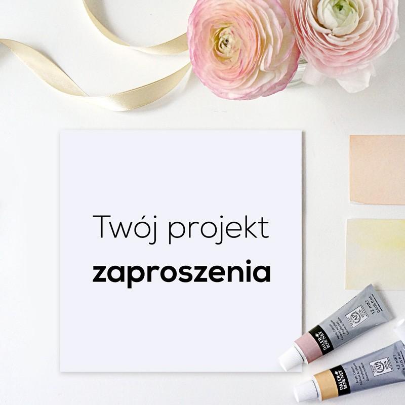 Zaproszenie ślubne Wg Twojego Projektu Sklepslubnylove