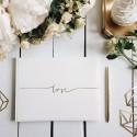 KSIĘGA GOŚCI weselnych z napisem Love ZŁOTA