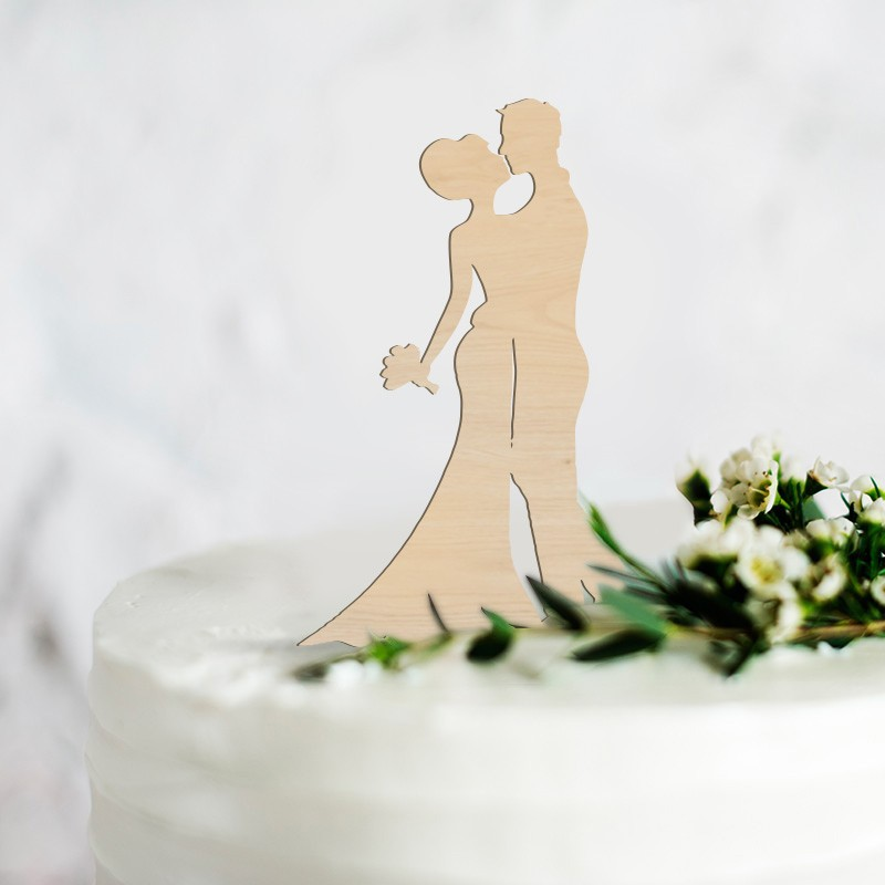 TOPPER na tort weselny Wedding Kiss NATURAL