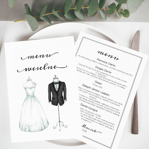 MENU weselne Bride&Groom