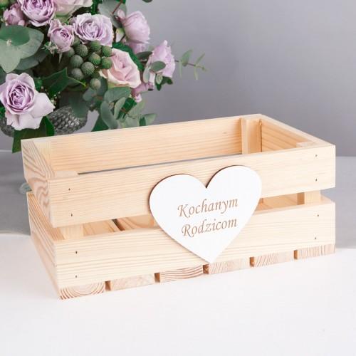 SKRZYNKA drewniana na podziękowanie najbliższym 30x20cm