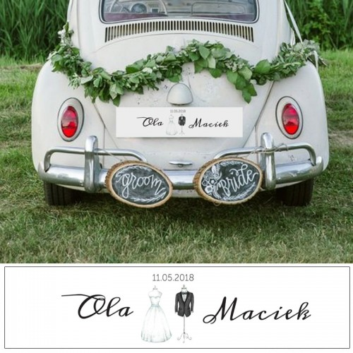 TABLICA rej. personalizowana Bride&Groom