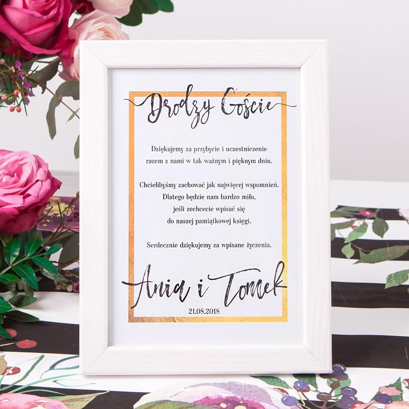 INSTRUKCJA do księgi gości w ramce Flowers&Stripes