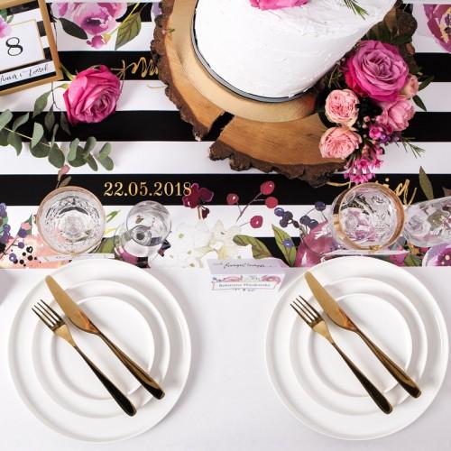 MENU weselne Flowers&Stripes