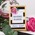 NUMEREK na stół wesele z imionami Flowers&Stripes