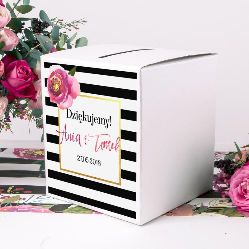 PUDŁO na telegramy z personalizacją Flowers&Stripes