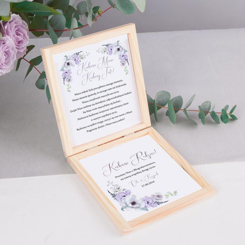 PROŚBA o błogosławieństwo Z IMIONAMI Lilac Grey
