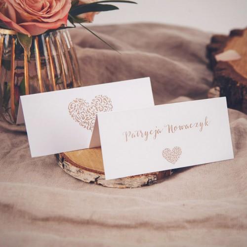 WINIETKA wizytówka z nadrukiem Czekoladowe LOVE