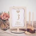 TABLICZKA na stolik z personalizacją Czekoladowe LOVE