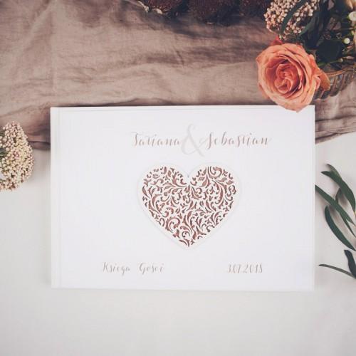 KSIĘGA GOŚCI weselnych z imionami Czekoladowe LOVE