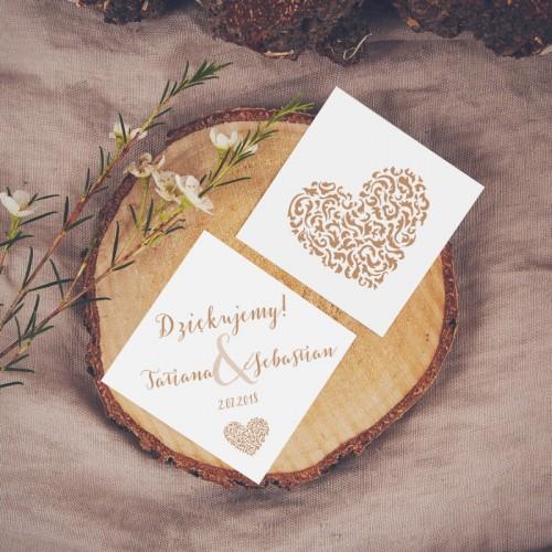 BILECIKI ROMBY personalizowane Czekoladowe LOVE 20szt
