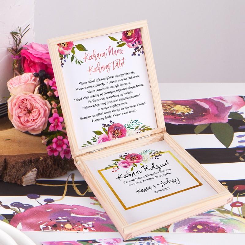 Prośba O Błogosławieństwo Z Imionami Flowersstripes Sklepslubnylove