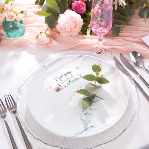 WAZONIKI szklane szary/róż/niebieski KOMPLET 3szt