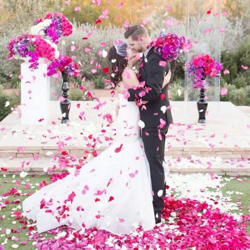 KONFETTI WYSTRZAŁOWE Płatki Róż RÓŻOWE