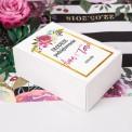 PUDEŁKA na ciasto z IMIONAMI Flowers&Stripes 12szt