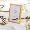 NUMEREK na stół wesele z imionami Love