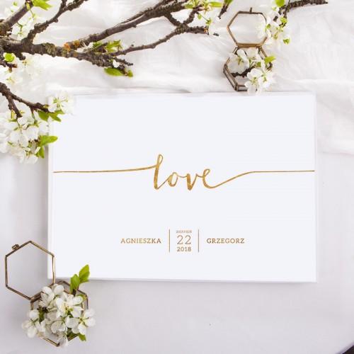 KSIĘGA GOŚCI weselnych z imionami Love