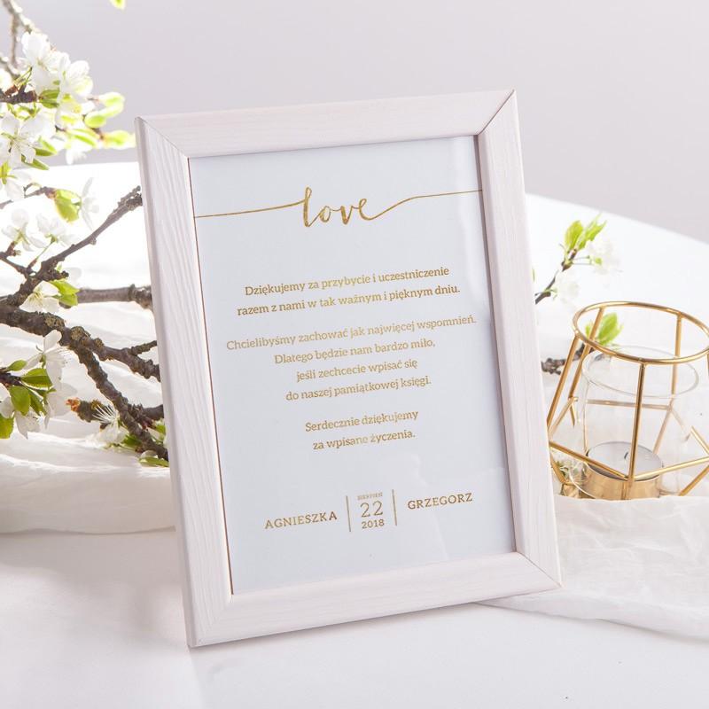 INSTRUKCJA do księgi gości w ramce Love