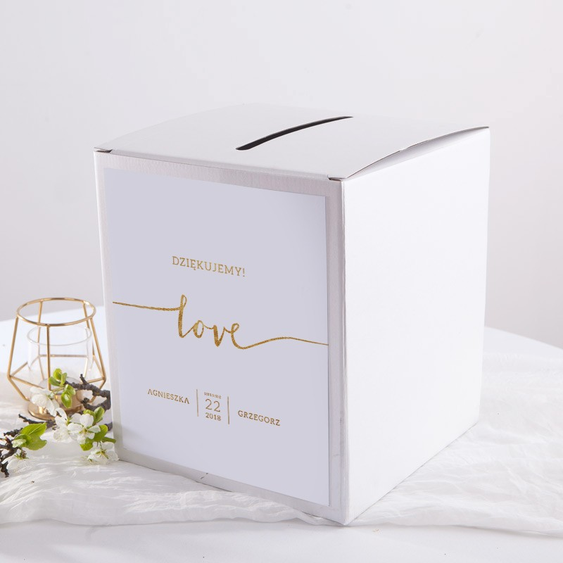 Unikalne PUDŁO na koperty z personalizacją Love - SklepSlubny.Love BN33