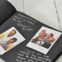 KSIĘGA GOŚCI personalizowana z czarnymi kartkami Granatowe Anemony